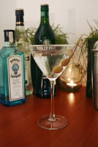 Droge Martini met olijven
