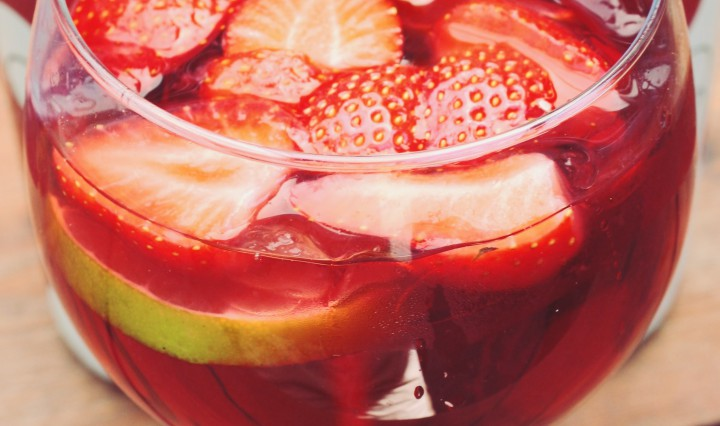 Sangria vers fruit