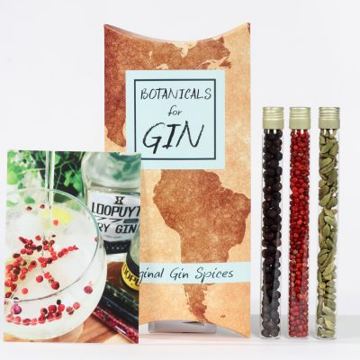 gin tonic botanical set
