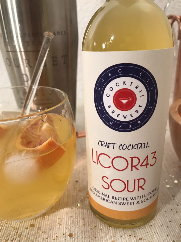 Licor Sour craft cocktail