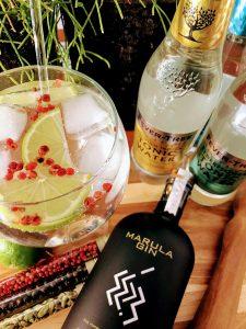 Marula gin en tonic botanicals