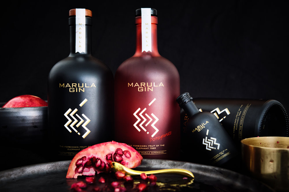 Marula black and red gin