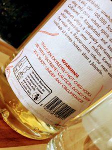 Afbeelding van label op fles naga chili wodka