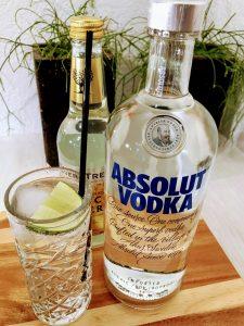 afbeelding van een fles Zweedse absolut wodka