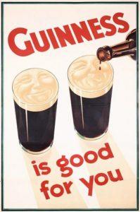 afbeelding van een oude reclame van guinness
